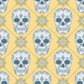 Muster mit totenköpfen — Stockvektor