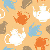 фон с чайники — Cтоковый вектор