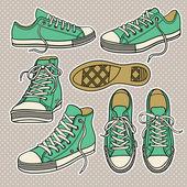 Sneakers  set — Stock Vector