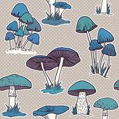 набор с грибами — Cтоковый вектор
