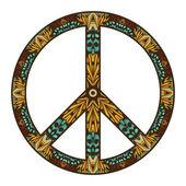 International peace symbol — Stock Vector