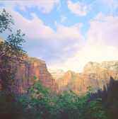 Temple Of Sinwava Trail ~ Zion National Park — Stock Photo