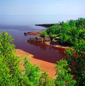 Gitchee Gummi Trail Overlook On Lake Superior — Stock Photo