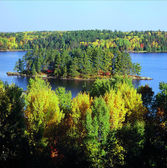 Kabetogama Lake Overlook ~ Voyageurs National Park — Stock Photo