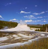 Castle Geyser Formation Yellowstone National Park — Stock Photo