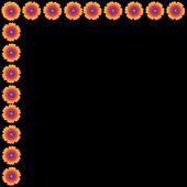 Fiore del telaio su sfondo — Foto Stock