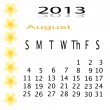 Flower of frame on calender 2013 — Stock Photo #16487429
