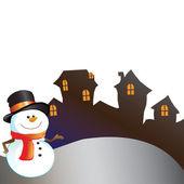 дом на рождество — Стоковое фото