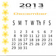 Flower of frame on calender 2013 — Stock Photo #16498021