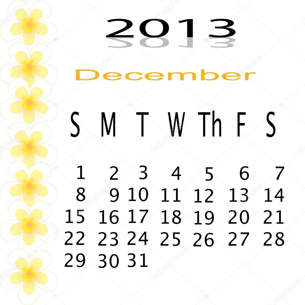 Flower of frame on calender 2013 — Stock Photo #16498193
