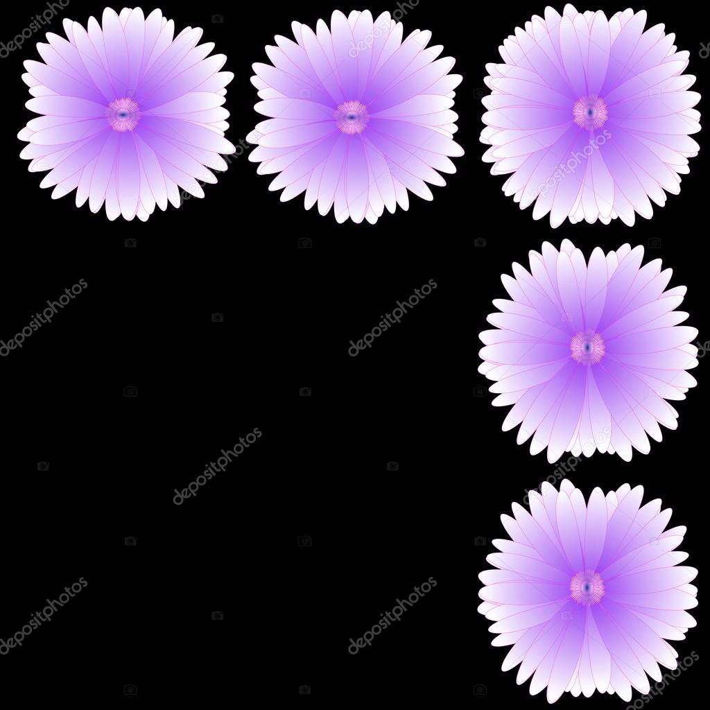 Flower of frame on background — Stock Photo #16504443