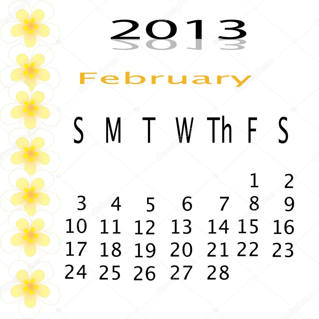 Flower of frame on calender 2013 — Stock Photo #16504517
