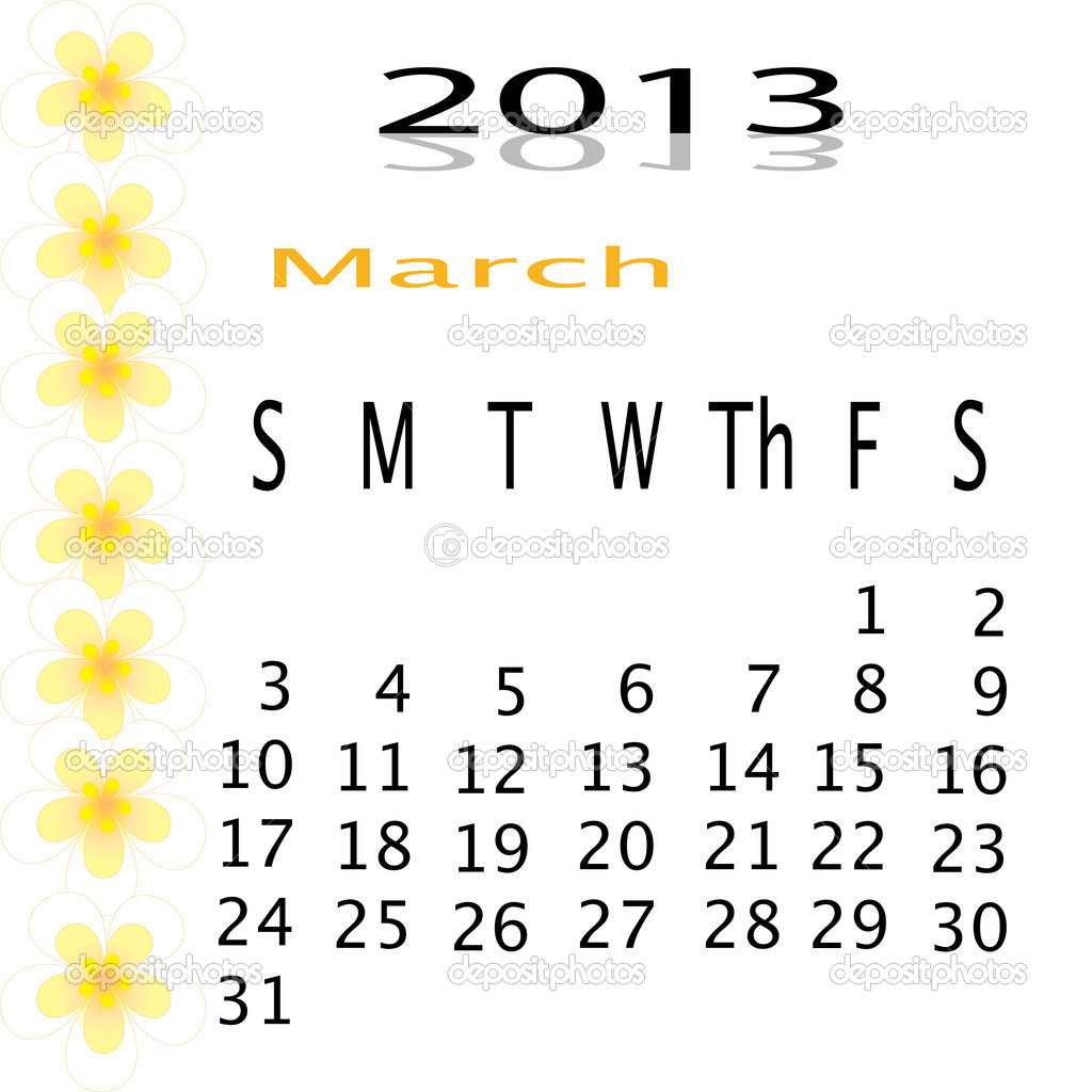 Flower of frame on calender 2013  Stock Photo #16504665