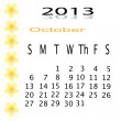 Flower of frame on calender 2013 — Stock Photo #16618093