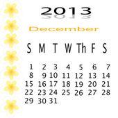 カレンダー 2013年内のフレームの花 — ストック写真