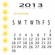 Flower of frame on calender 2013 — Stock Photo #16624561