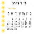 Flower of frame on calender 2013 — Stock Photo #16624725