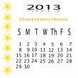Stock Photo: Flower of frame on calender 2013