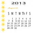 Flower of frame on calender 2013 — Stock Photo #16632541