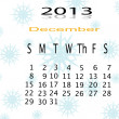 Stock Photo: Calender of 2013