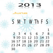 Calender of 2013 — Stock Photo