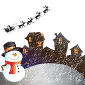 House on christmas day — Stock Photo