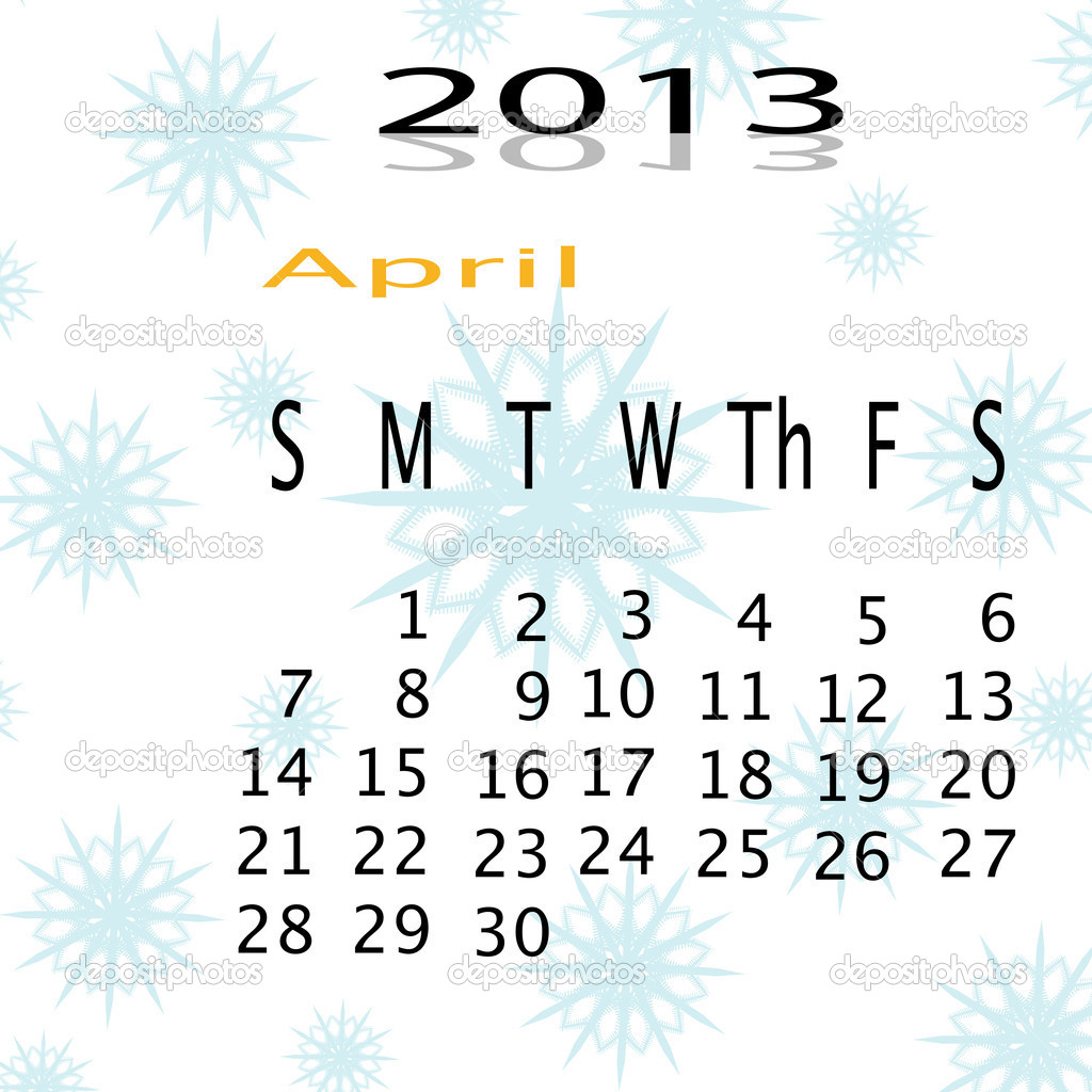 Calender of  snow in 2013 — Stock Photo #17642597
