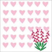 Heart of frame on white background — Stock Vector