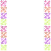 Цветочная рамка кадра на фоне — Стоковое фото
