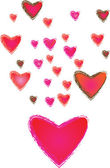 Heart of frame on background — Stock Vector