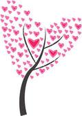 Tree of heart of frame on white background — Stock Vector