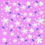 Flower wallpaper of frame on background — Stock Photo