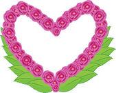 Srdce s květinou — Stock vektor