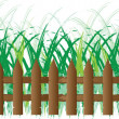 Grass of frame — Stock Vector