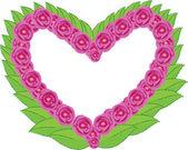 Heart with flower — Stockvektor