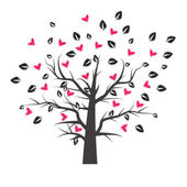 Heart tree with heart leaf — Stock Vector