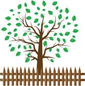 Herz-Baum mit Herz-Blatt — Stockvektor