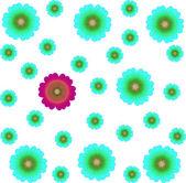 Цветочная рамка — Стоковое фото