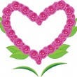 Heart with flower - Stock Vector
