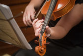 Violin music instrument. Violinist. — Stock Photo