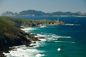 Galician coast and island — Stock Photo