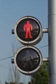 Voetgangers verkeerslicht — Stockfoto