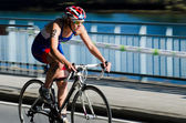 Duathlon athletes — Stock Photo