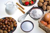 Ingredienser för degen — ストック写真