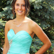 Beautiful young woman ready for the prom — Stock Photo