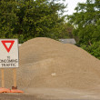 Roadside gravel pile — Stock Photo