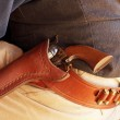 Close up of cowboy's gun belt — Stock Photo #40388245