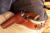 Close up of cowboy's gun belt — Stock Photo