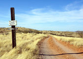 Dead end dirt road in the desert — Stock Photo