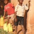 African children living in a poor village Rushooka near city Mbarara in Uganda — Stock Photo #19720641